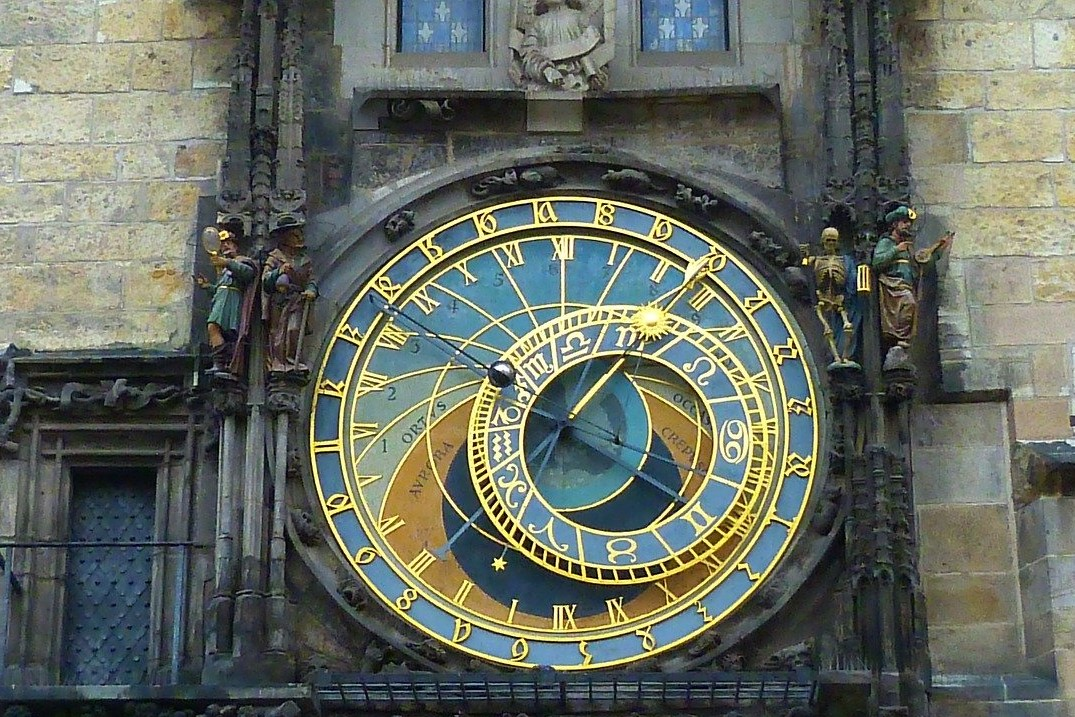 The world famous Astronomical Clock in Prague