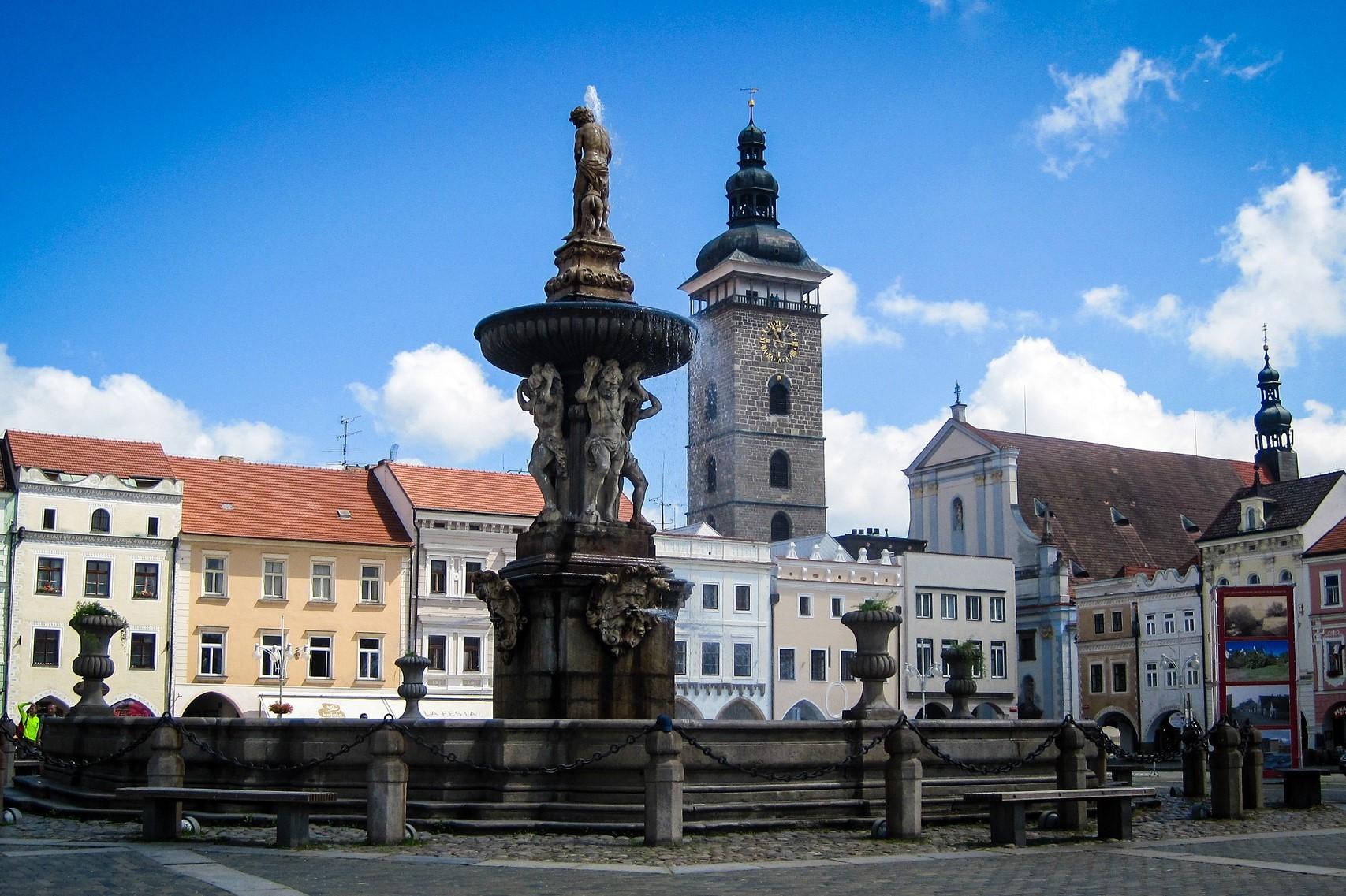 Largest square in Czech Republic in České Budějovice