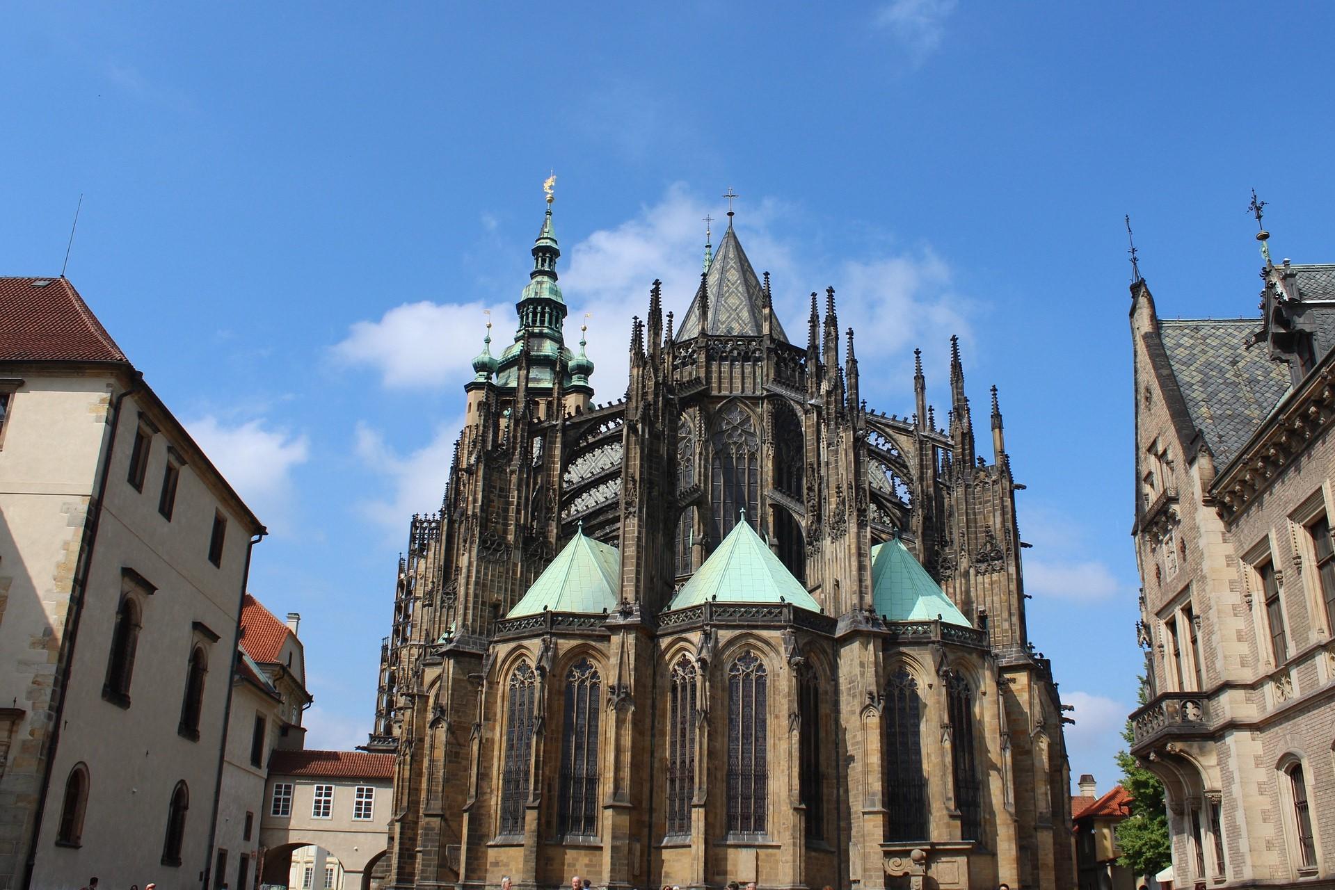 The impressive St. Vitus Cathedral at Prague Castle