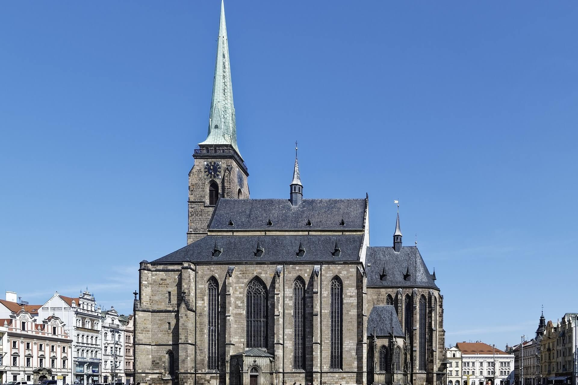 Church in Pilsen, Czech Republic, near Prague. Home to Pilsner beer.
