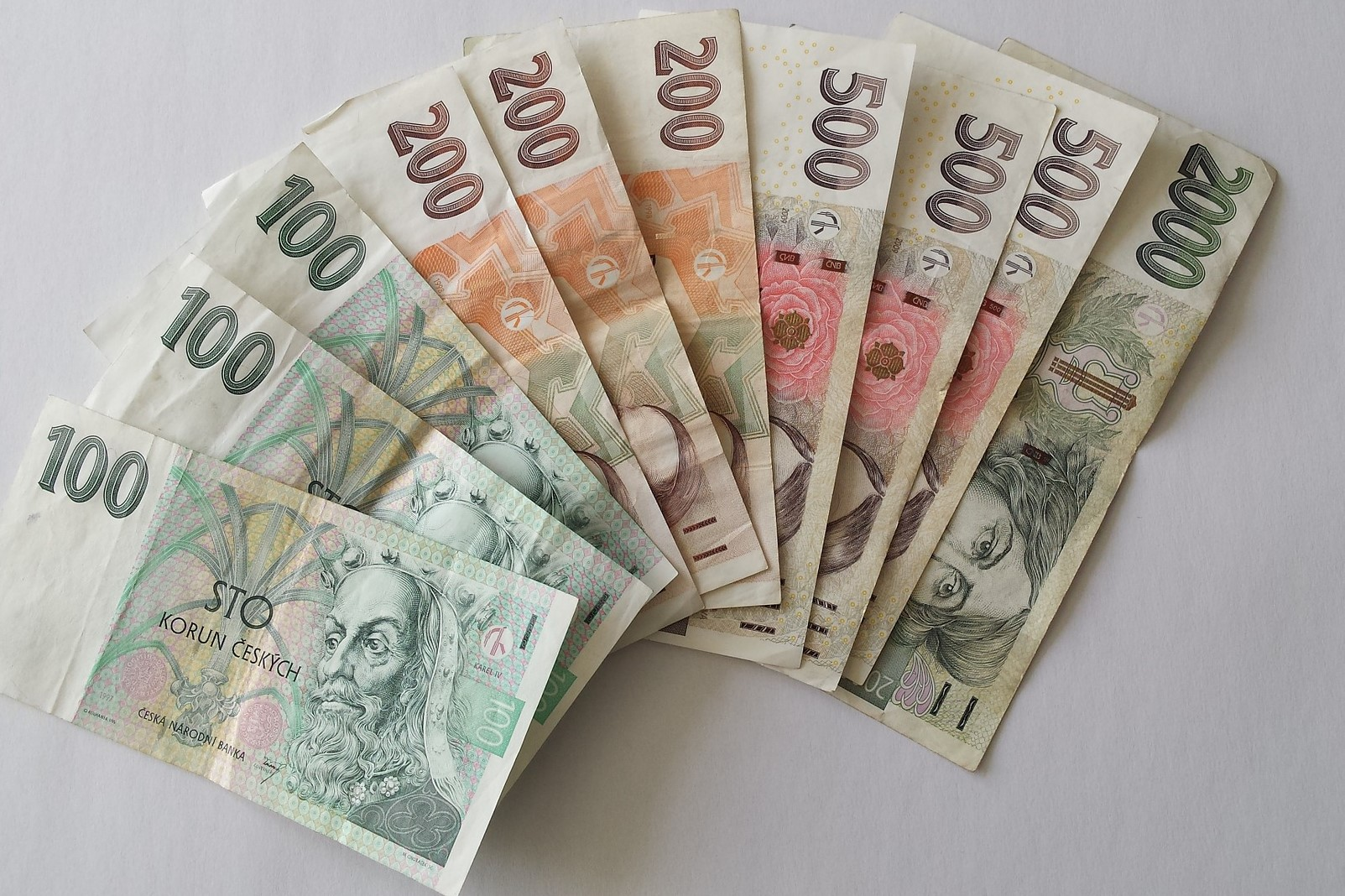Czech money is called koruna and comes in various denominations.