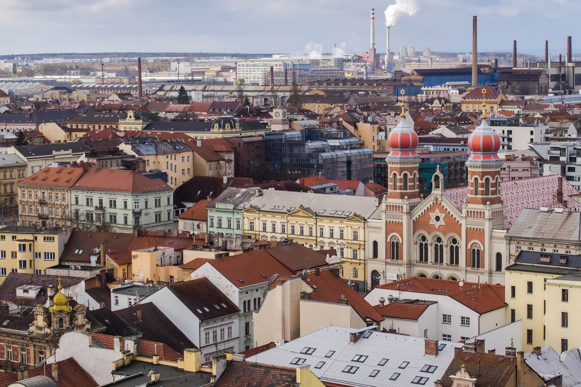 Pilsen is found just west of Prague, about an hour from the capital and is the birthplace of Czech beer.