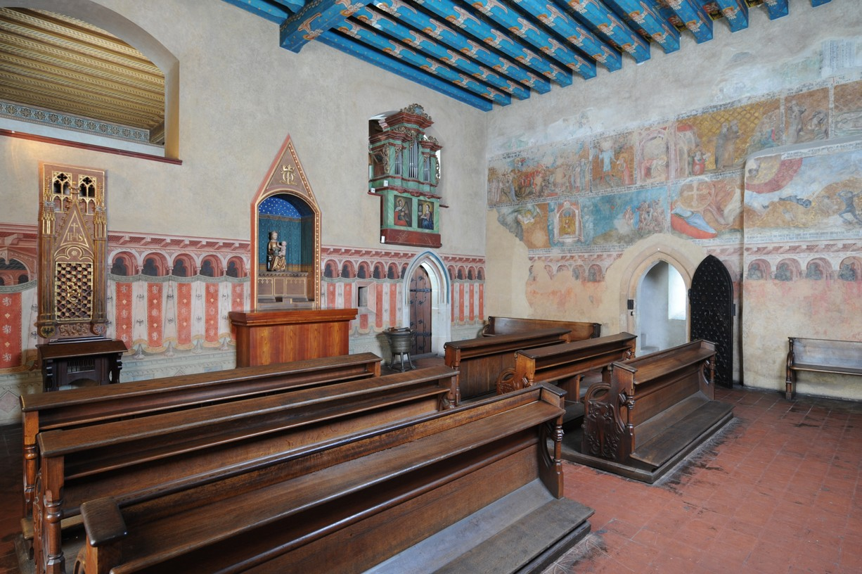 The interior artwork in the Karlštejn Castle is one of the reasons it is the top day trip from Prague.