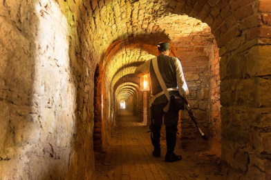 Tunnels found in Terezín Fortress just north of Prague, Czech Republic.