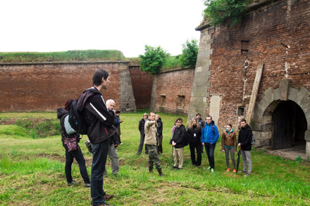 Visitors learn the tragic past of the Terezín concentration camp in northern Czech Republic.