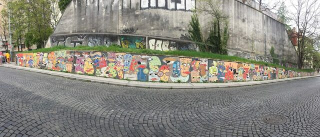 Street art and graffiti in Prague.