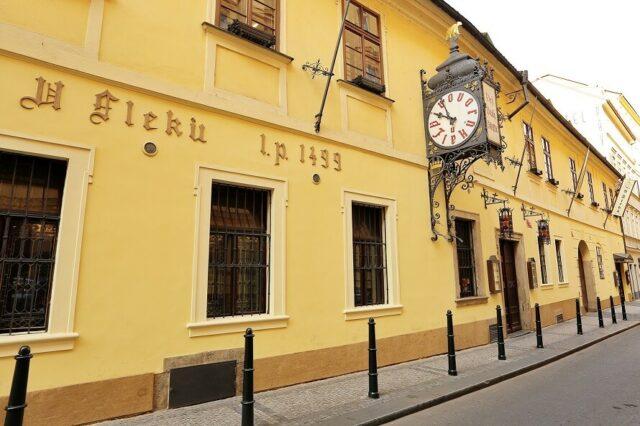 Visit U Fleku Bar and Restaurant in Prague, the oldest brewery in Prague.